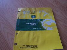 John Deere 870, 970 And 1070 Utility Tractors Operator'S Manual