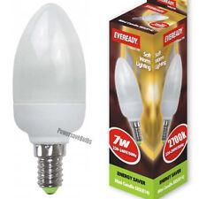 3 Caldo Bianco 2700K LAMPADINA CANDELA A Basso Risparmio Energetico 7W SES E14 Eveready Luce