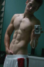 Shirtless Male Hunk Abs Hand In Athletic Shorts Frat Jock Dude PHOTO 4X6 P960