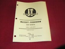 Massey Ferguson 25 130 Tractor I&T Shop Manual 84PA