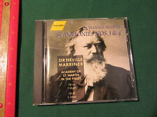 Brahms Symphonies 3 & 4 Neville Marriner St. Martin in the Fields Hanssler CD
