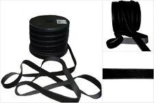 Black Plush Velvet Ribbon 15mm Trim By The Metre RM230 BK FREE P&P