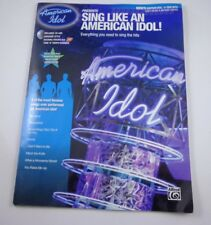 *   SING LIKE AN AMERICAN IDOL-8 SONGS-COACH-CD-MINT -songbook