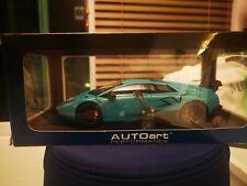 BRAND NEW Autoart Lamborghini Murcielago SV LP670-4 BABY BLUE 1/18