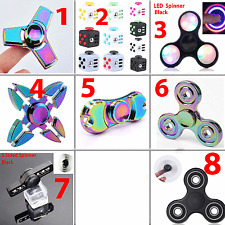 Fidget Spinner Tri Hand Cube Finger Kid Toys Rainbow Stress Relief Desk Adult