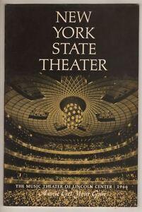 """Ethel Merman  """"Annie Get Your Gun""""  Playbill   1966   Lincoln Center"""