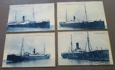 PAQUEBOT BATEAU COMPAGNIE GENERALE TRANSATLANTIQUE 4 cartes postales