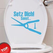 WC Deckel Aufkleber - Im sitzen pinkel - Wandtattoo Bad