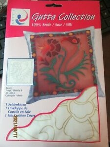 NEW Artys Gutta Collection 1 Silk Cushion Cover Silk Painting NOS