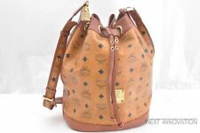 Authentic MCM Cognac Visetos Leather Vintage Shoulder Bag Brown  40348