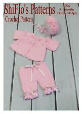 CROCHET PATTERN for BABY JACKET HAT & TROUSERS #26 NOT CLOTHES