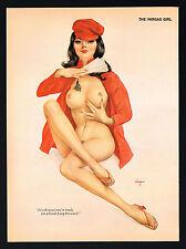 Vintage Alberto Vargas Girl Chinese Communist China Asian Nude Pin Up Art Print