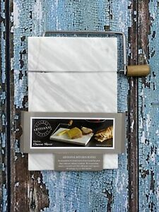 Artisanal White Marble Board Wire Cutter Kitchen Supply Stainless Cheese Slicer