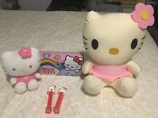 Hello Kitty Lot Collectibles 11� Squishy Toy 6� Plush Pez (2) Metal Clutch Purse