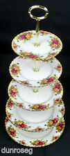 OLD COUNTRY ROSES 5-TIER CAKE STAND, GEN. GOOD CONDITION, ENGLAND, ROYAL ALBERT