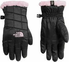 The North Face Girls' Mossbud Swirl Gloves TNF Black/Purdy Pink Youth Small