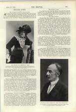 1900 Thomas Hardy Autore di Tess Mrs WALLER può Congdon Kitty CHALMERS