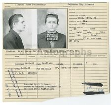 Police Booking Sheet - Russell E. Marvin - Grand Larceny Auto - Missouri - 1956