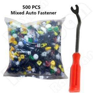 500 Pcs Mixed Plastic Car Autos Door Fender Trim Panel Clips Fasteners Universal
