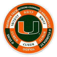 Miami Hurricanes 2017 Football Schedule Golf Ball Marker Coin NCAA Licensed