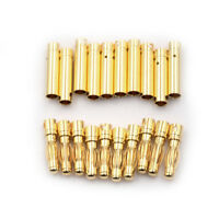 10Pair 4.0mm 4mm RC Battery Gold-plated Bullet Connector Banana Plug JKHWC