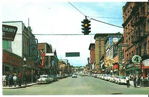 BUTTE MONTANA, Street Scene Postcard M&M Bar Sign, Hennesseys, Gordon Jewelry