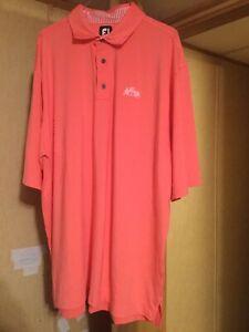 Mens Size XXL Footjoy Orange Golf Shirt St.Annes
