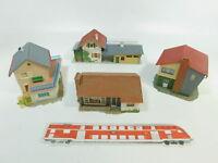 BK315-2# 4x Faller H0 Modell: Haus/Landhaus + Bahnhof Zindelstein