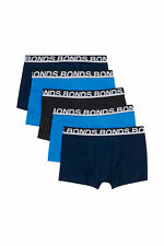 5 X Bonds Mens Everyday Trunks Underwear Black / Navy / Blue