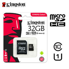 Kingston 32GB Micro SD SDHC/SDXC Klasse 10 Speicherkarte TF 80MB/s R mit Adapter