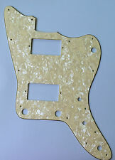 For Japan Jazzmaster Guitar Pickguard with PAF Humbucker, 4 Ply Cream Pearl