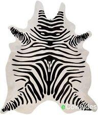 Zebra Cowhide Rug Brazilian Cow Hide Area Rugs Skin Leather