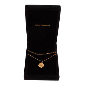 RRP €540 DOLCE & GABBANA Chain Necklace Virgin Mary Pendant Made in Italy