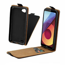 Vertical Flip Leather Silicone Case Black Phone Cover For LG Q6 / Q6 Plus / Q6a