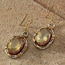 New Tara Mesa 17.08ctw Lemon Quartz Oval Earrings