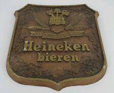 Vintage Heineken Beer Bieren Nec Pluribus Impar Faux Wood Wall Plaque Sign