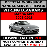 # OFFICIAL WORKSHOP Service Repair MANUAL for MAZDA MX5 2006-2013 +WIRING #