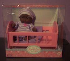 "New Berenguer Aa Doll Lots To Love Babies 5"" Mini Nursery PlaySet In Crib Htf"