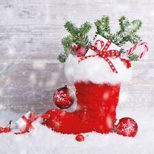 5  x   Paper Napkins for Decoupage Santas Boot Napkin Art
