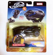 New MARVEL COMICS FLIP FIGHTER HOT WHEELS BLACK PANTHER FLIPPING ACTION CAR