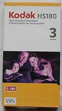 Pack of 1 X Kodak HS180 (3 Hour) VHS Blank Video Tape - New & Sealed