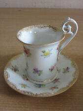 Antique Tinfenfurt Silesia Schlesische Porzellanfabrik Porcelain Floral tea cup