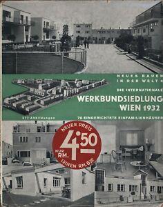 Frank (Hrsg.): Die internationale Werkbundsiedlung Wien 1932 (1932). Erstausgabe