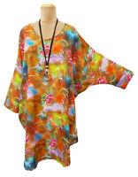 Lagenlook Boho Oversized High Low Tunic Kaftan Plus Size 16 18 20 22 24 26