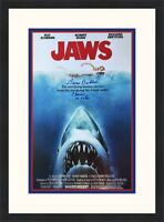 JAWS Movie Poster III Susan Backlinie Autographed Custom Framed  FREE SHIP