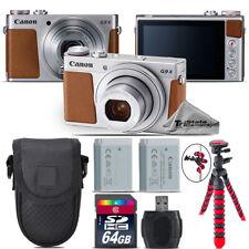 Canon PowerShot G9 X Mark II Digital Camera (Silver) + Extra Battery - 64GB Kit