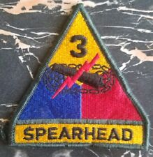 "US ARMY 3rd Armored Division patch ""Spearhead"" tab Shoulder Patch - Third Herd"