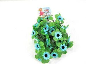 Blumen Girlande Sonnenblume Blau Deko für Lenker Tasche/Korb Fahrraddeko 03951 B