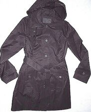 LONDON FOG  women's Black trench dress COAT  with removable hood size XL