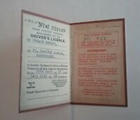 1933 VINTAGE DRIVING LICENCE **(REPRODUCTION)**